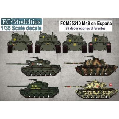 CALCAS M-48 ESPAÑOLES 1/35 - FC Modeltips C35210