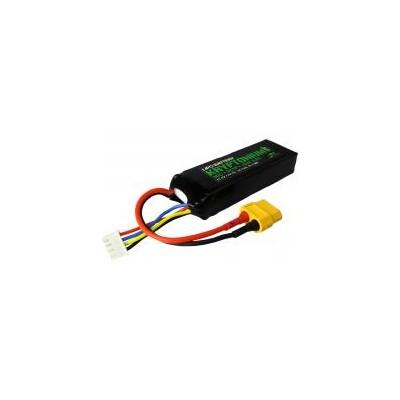 BATERIA LIPO 11.1V 1000 MAH 30C CONECTOR XT60 YUKI 801306