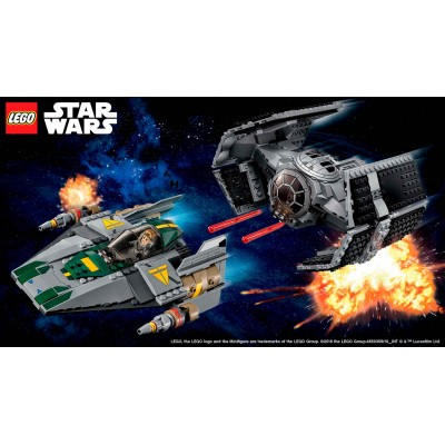 OFERTA STAR WARS: VADERS TIE ADVANCED VS A-WING STARFIGHTER LEGO 75150