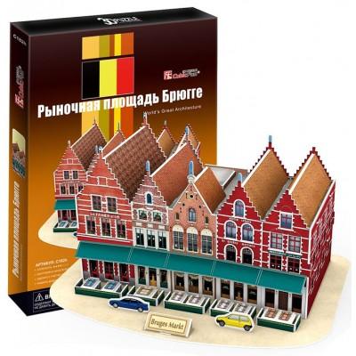 PUZZLE 3D MERCADO DE BRUJAS (32.5 X 23.5 X 17.5 CMS) 45 PZS CUBIC FUN C182