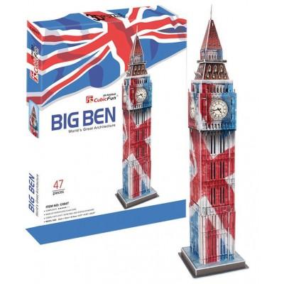 PUZZLE 3D BIG BEN SPECIAL EDITION (12 X 12 X 51.5 CMS) 47 PIEZAS CUBIC FUN C094T