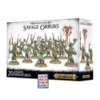 BONESPLITTERZ SAVAGE ORRUKS (20 MINIATURAS) - GAMES WORKSHOP 89-19