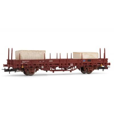 VAGON PLATAFORMA Tipo KS RENFE Ep. V -Bloques de marmol- Electrotren E1336