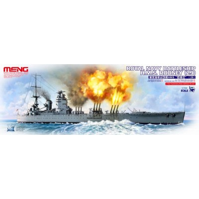 ACORAZADO H.M.S. RODNEY 1/700 - Meng Model PS001