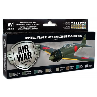 AIR WAR: Imperial Japonese Navy (IJN) Pre-war to 1945 - Acrylicos Vallejo 71169