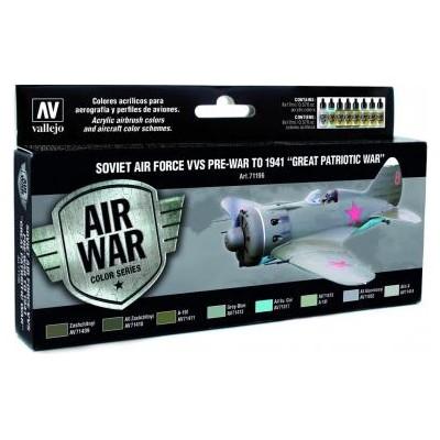 AIR WAR: Fueza Aerea Sovietica (VVS) Pre-War to 1941 - Acrylicos Vallejo 71196