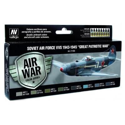 AIR WAR: Fueza Aerea Sovietica (VVS) Great Patriotic War 1943-1945 - Acrylicos Vallejo 71198