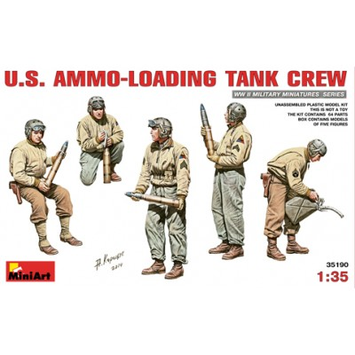 TRIPULANTES U.S. ARMY RECARGANDO VEHICULO - MiniArt 35190