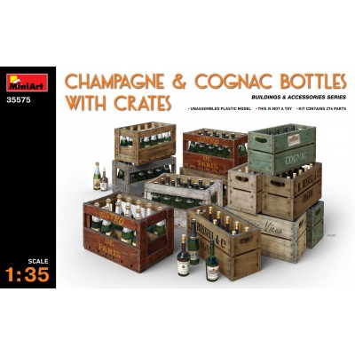 BOTELLAS Y CAJAS DE COÑAC & CHAMPAGNE - MiniArt 35575