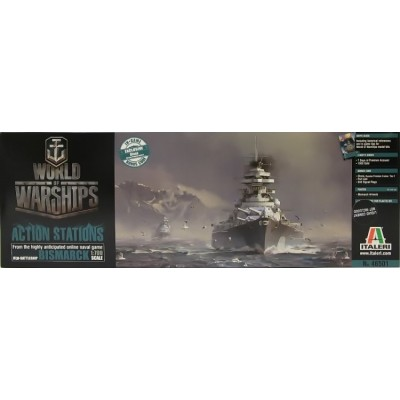 WORLD OF WARSHIPS: BISMARCK 1/700 - Italeri 46501