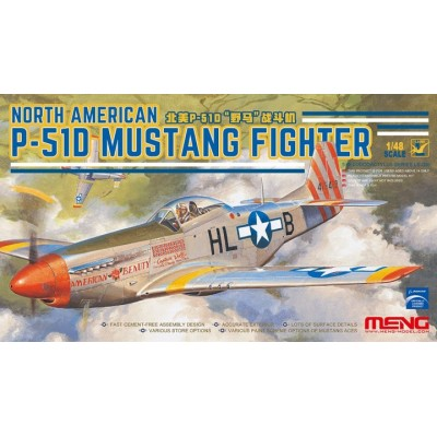 NORTH AMERICAN P-51 D MUSTANG - Meng Model LS006