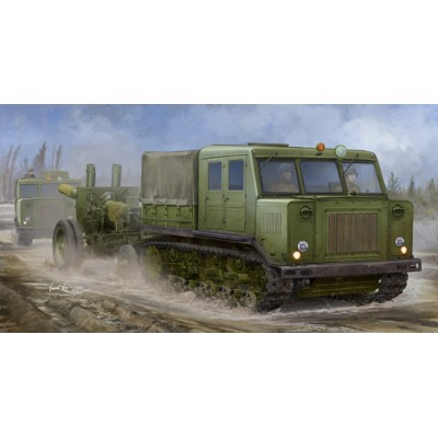 TRACTOR ARTILLERIA AT-S & OBUS ML-20 (152 mm) - Trumpeter 09514
