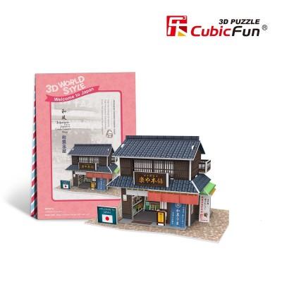PUZZLE 3D JAPANESE FLAVOR CONFECTIONERY SHOP (165 x 112 x 104 mm) 24 pzs. CUBIC FUN W3101