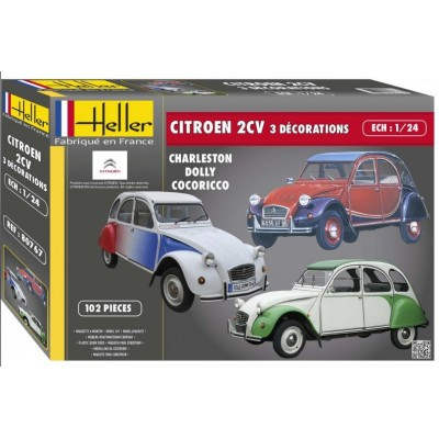 CITROEN 2 CV (3 Decoraciones) - Heller 80767