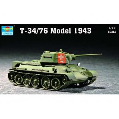 CARRO DE COMBATE T-34/76 Mod. 1943 - Trumpeter 07208