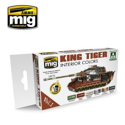 Set colores: Colores interior KING TIGER - Ammo Mig 7165