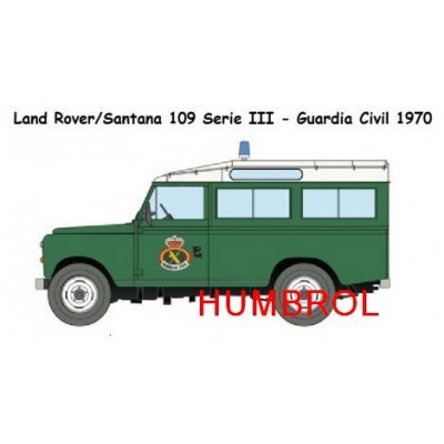 SET DE COLORES LAND ROVER GUARDIA CIVIL (Humbrol)