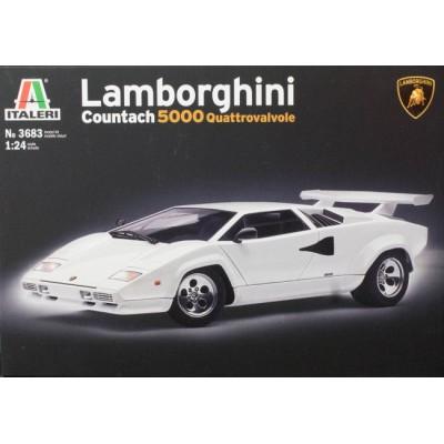 LAMBORGHINI COUNTACH -5000 Quattrovalvole- 1/24 - Italeri 3683