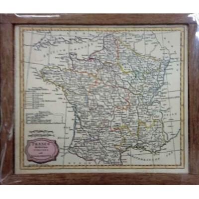 MAPA DE FRANCIA ENMARCADO (72 X 60MM)
