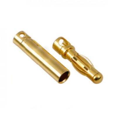 CONECTOR ORO 2 mm (MACHO / HEMBRA)