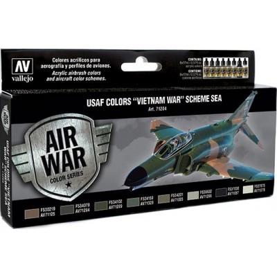 MODEL AIR SET: USAF VIETNAM WAR SEA COLOR SCHEME (8 BOTES 17ML) - ACRILICOS VALLEJO 71204