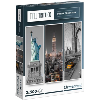 PUZZLES NUEVA YORK 3 X 500 PZS 3 X 23.5 X 68 CM- CLEMENTONI 39305