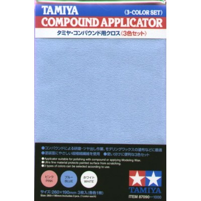 GAMUZA PARA APLICAR COMPOUND (3 unidades) - Tamiya 87090