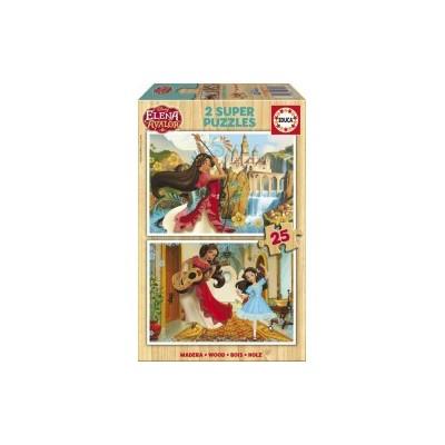 PUZZLE 2x25 PZS ELENA DE AVALOR MADERA - EDUCA 17235