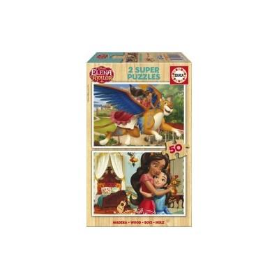 PUZZLE 2x50 PZS ELENA DE AVALOR MADERA - EDUCA 17237