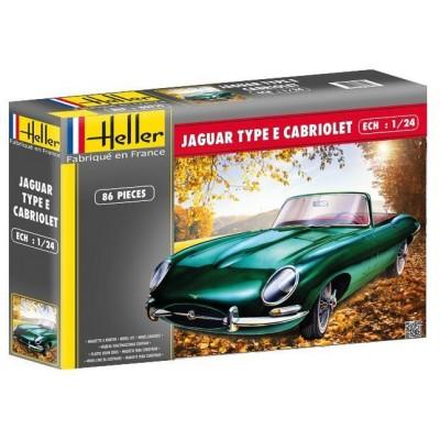 JAGUAR Type E Cabriolet 1/24 - Heller 80719