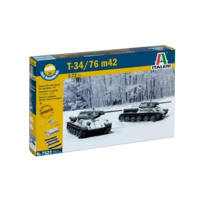 CARRO DE COMBATE T-34/76 Mod. 1942 (2 unidades) MONTAJE RAPIDO - Italeri 7523 . ESCALA 1/72