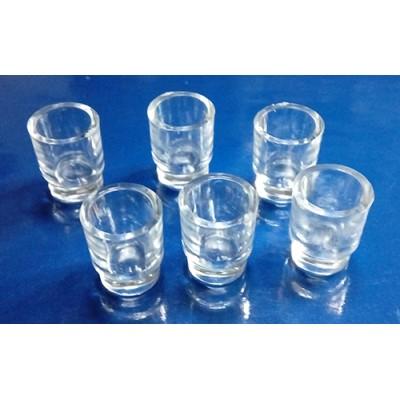 Juego 6 Vasos Plastico Altura 13mm