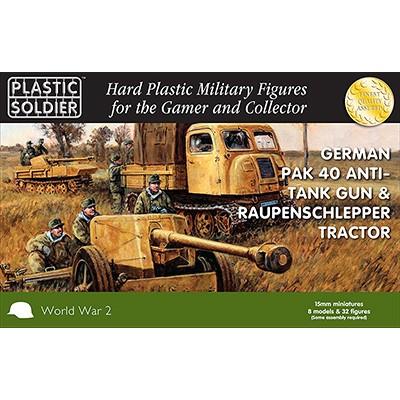 TRACTOR Y CAÑON PAK-40 - Plastic Soldier WW2G15004