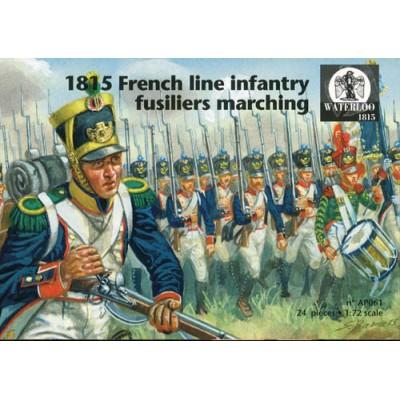 INFANTERIA DE LINEA FRANCESA (1815) MARCHANDO - Waterloo1815 AP061