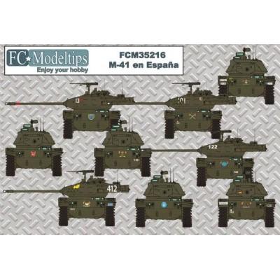 CALCAS CARRO DE COMBATE M-41 WALTER BULLDOG ESPAÑOL - FC Modeltips C35216