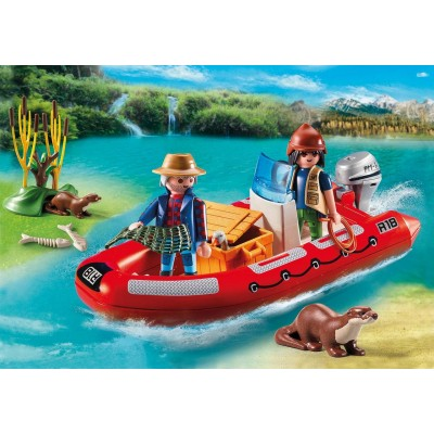 BOTE HINCHABLE EXPLORADORES - PLAYMOBIL 5559