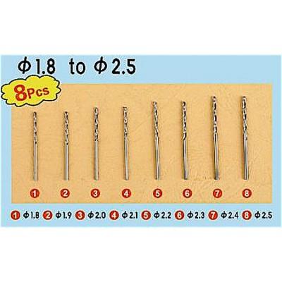 SET BROCAS (1,80 - 2,50 mm) 8 unidades - Trumpeter 09956