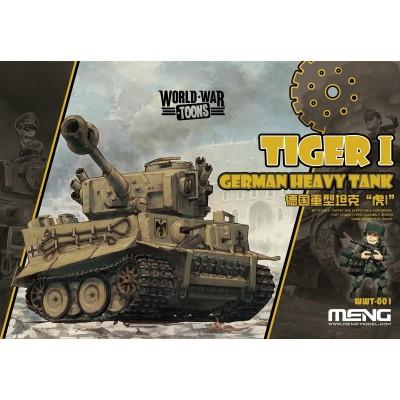 CARRO DE COMBATE TIGER I -TOONS- Meng Model WWT-001