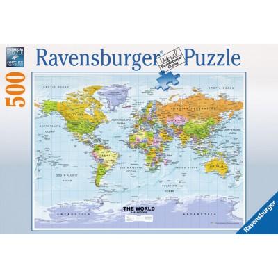 PUZZLE 500PZS MAPAMUNDI POLITICO - RAVENSBURGER 14755