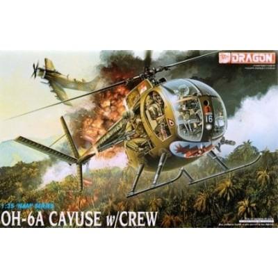 HUGHES OH-6 A CAYUSE & TRIPULACION - Dragon 3310