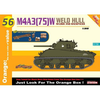 CARRO DE COMBATE M-4 A3 (75 mm) W SHERMAN - Dragon 9156