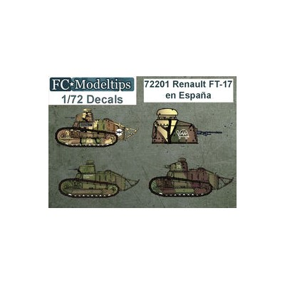 SET CALCAS CARRO FT-17 - FC Modeltips 72201