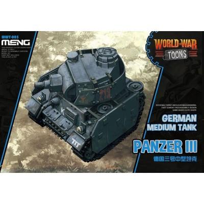 CARRO DE COMBATE PANZER III -TOONS- Meng Model WWT-005