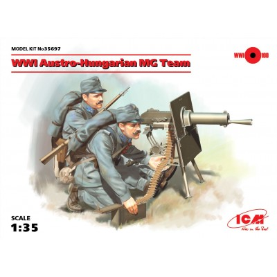 EQUIPO AMETRALLADORA AUSTROHUNGARO WWI- 1/35 - ICM 35697