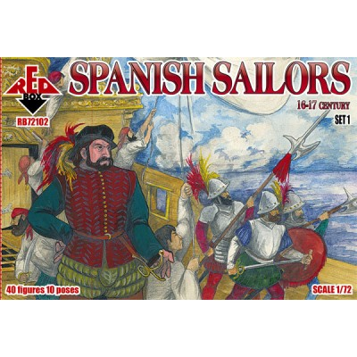 MARINEROS ESPAÑOLES SIGLOS XVI-XVII - ESCALA 1/72 - REDBOX 72102