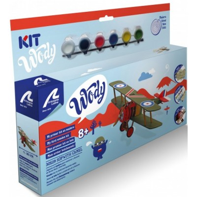 JUNIOR COLLECTION : SOPWITH CAMEL MAQUETA MADERA CON PINTURAS - ARTESANIA LATINA 30529