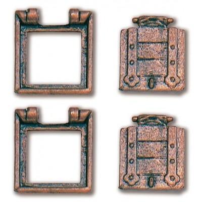 TRONERAS METAL CON PORTON (12 x 13 mm) 2 unidades - CONSTRUCTO 80210