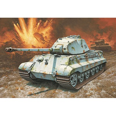 CARRO DE COMBATE Sd.Kfz. 182 TIGER II (Porsche) -1/72 - REVELL 03138