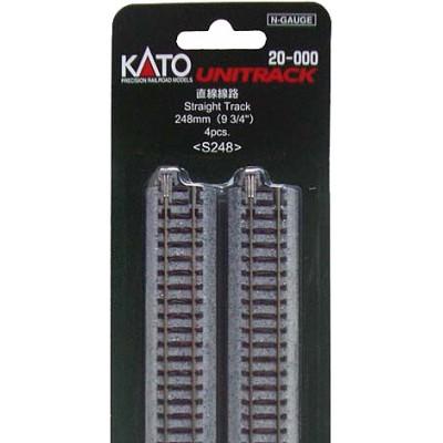 RECTA 248mm (BLISTER DE 4 RECTAS) - KATO S248