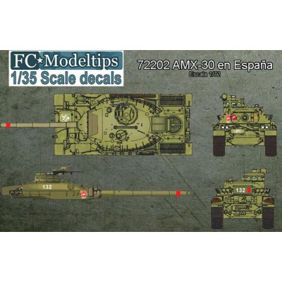 SET CALCAS CARRO DE COMBATE AMX-30 ESPAÑA - FC Modeltips 72202